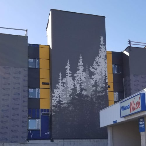 Murals by Liesl • Design Paint Mural seen at Squamish, Squamish - Large scale architectural mural design