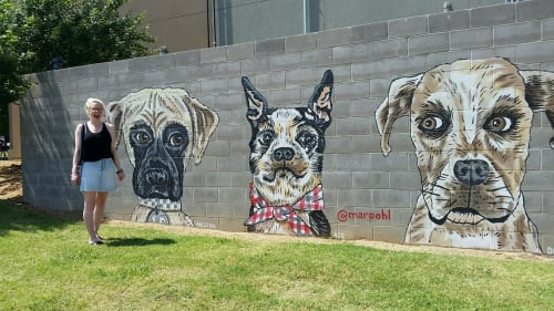 Street Murals by Mariel Pohlman at Sylvan Thirty, Dallas - It Wasn't Me