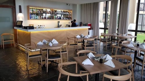 Tables by StudioMIC seen at Ocean Reef Hotel Zinkwazi, Nkwazi - Furniture