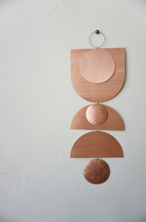 Wall Hangings by Electric Sun Creatives by Sarah Perez at Private Residence, Los Angeles - Copper Wall Hanging