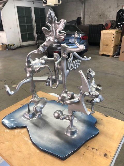 Sculptures by Joseph Slusky seen at Premier Auto Body, Berkeley - Silverado