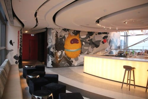 Murals by Felipe Yung (Flip) seen at SUSHISAMBA London, London - Indoor Mural