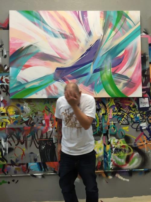 Paintings by Mike Bam Tyau seen at John Mark Salon, San Francisco - Mark John Salon