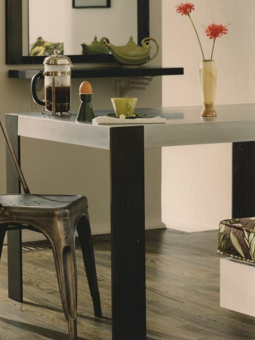 Tables by Antoine Proulx, LLC seen at Private Residence, Portland - DT-33 Dining Table and FR-27 Mirror