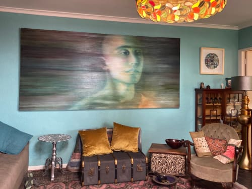 Paintings by Tracy Payne seen at Private Residence, Cape Town - 'Emerald Monk'