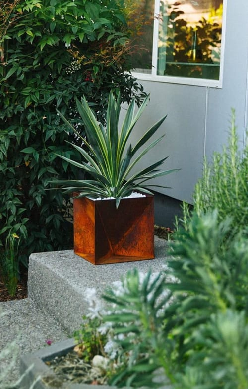 Vases & Vessels by Trey Jones Studio seen at Private Residence - Origami Planter