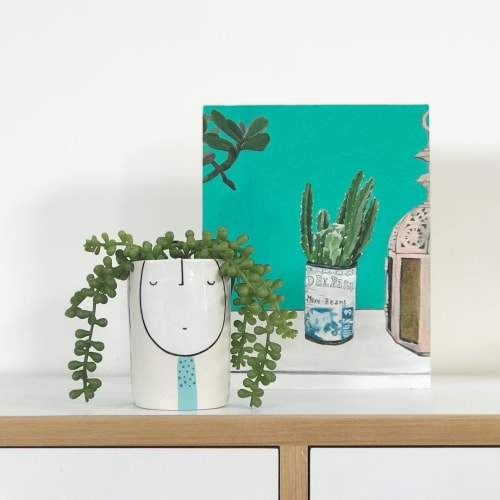 Paintings by Vanessa Encarnacao seen at Private Residence, Sydney - painting (cactus)