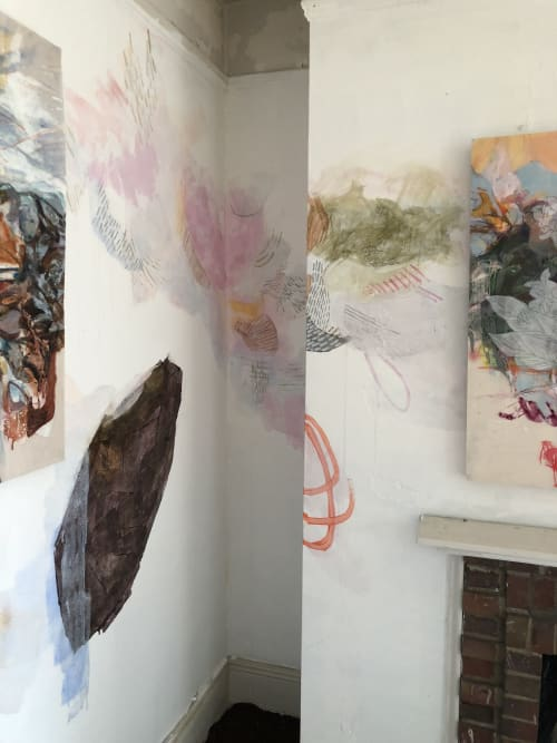 """Murals by Kayo Albert seen at Governors Island, New York - Governor""""s Island Art Fair 2018"""