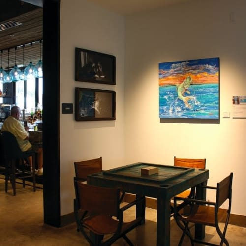 Paintings by Amanda Johnson Fine Art seen at The Perry Hotel Key West, Key West - Tarpon Leap
