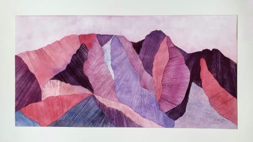 Paintings by Laila Vazquez seen at Private Residence, Seattle - Giewont Mountain
