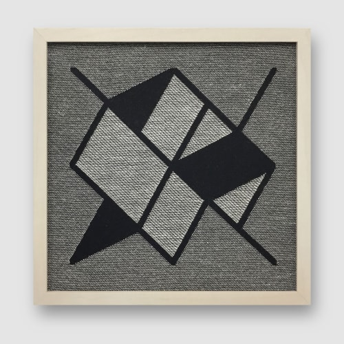 Wall Hangings by Zuzana Licko seen at Private Residence, Berkeley - Framed Jacquard Weavings
