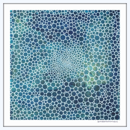Art & Wall Decor by Seth B Minkin Fine Art seen at Seth B Minkin Studio + Showroom, Boston - White Circles Deep Ocean | Limited Edition Print | Multiple Sizes Available