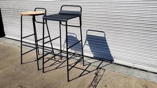Chairs by StudioMIC seen at A Streetbar Named Desire, Randburg - Bar stools