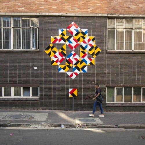 Murals by R1. seen at August House, Johannesburg - Wall mural