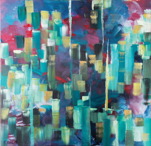 Paintings by Art at Vixen by Kirsten Todd seen at Ruth Holden Aesthetics, Grappenhall - Fragile Earth - Basalt Pillars