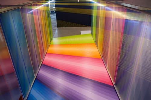 Sculptures by Ender Martos seen at Facebook, Austin - Chromatic Passage of Light
