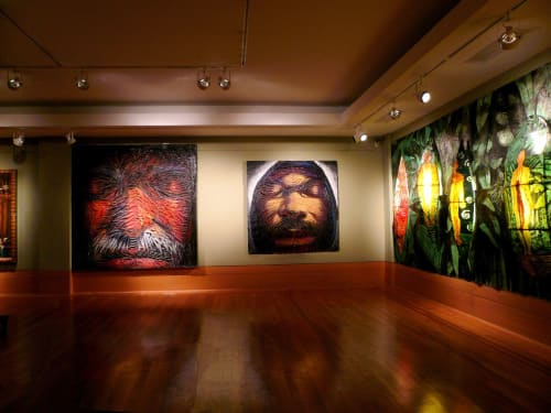 Murals by Frank Hyder Studios seen at Private Residence, New York - God, Man and Nature