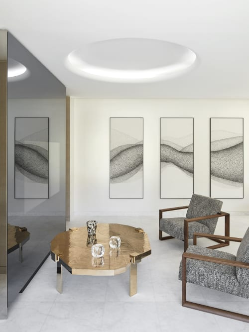 Paintings by Alix Waline seen at Private Residence, Antibes - Up and Down
