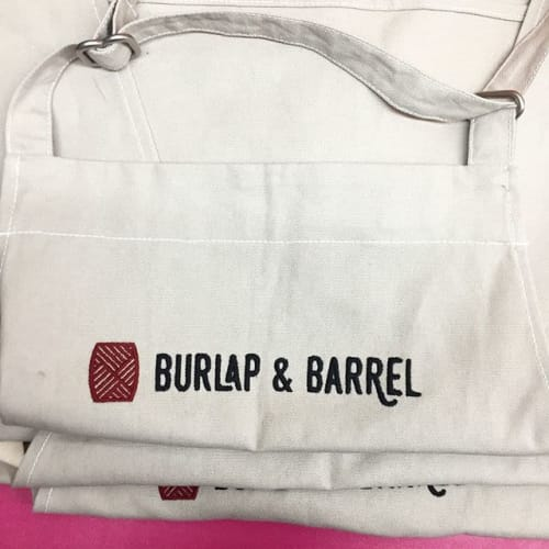 Aprons by BoWorkwear seen at 35-30 81st St, Queens - B&B Aprons