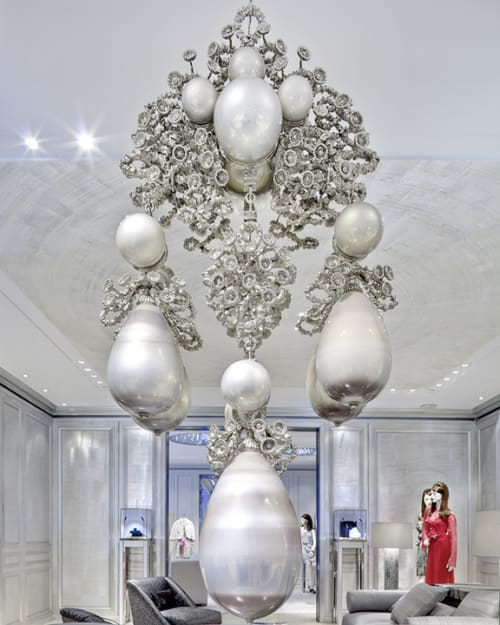 Sculptures by Timothy Horn seen at Dior, 57th St, New York - Commission for Dior