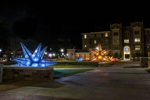Public Sculptures by Creative Machines seen at Texas Tech University, Lubbock - Texas Rising