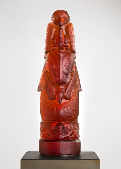 Sculptures by Preston Singletary Glass seen at Seattle, Seattle - Killer Whale Totem