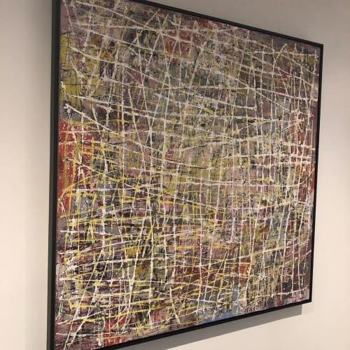 "Paintings by Anastessia Bettas seen at Private Residence, Toronto - ""Philosophers Walk"" Painting"
