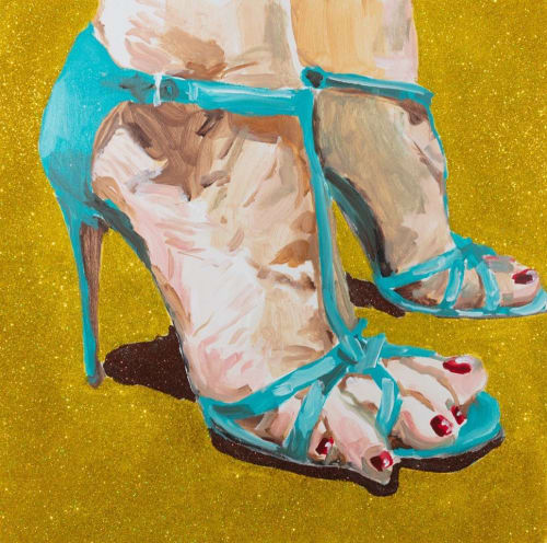 Paintings by Ashley Longshore at Ashley Longshore Studio Gallery, New Orleans - Feet Painting