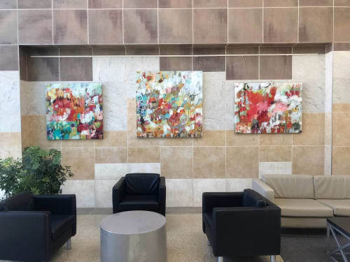 Paintings by Elizabeth Chapman Art seen at Springfield-Branson National Airport, Springfield - Abstract Paintings