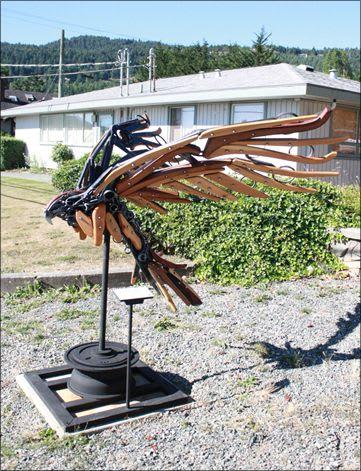 Sculptures by Carl Sean McMahon seen at Artcraft/Salt Spring Arts Council - Ascension
