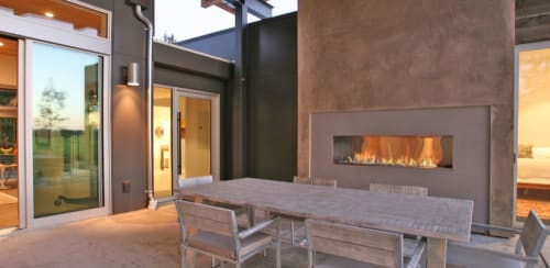 Fireplaces by European Home seen at Santa Rosa, Santa Rosa - J Series Single Sided Outdoor Gas Fireplace