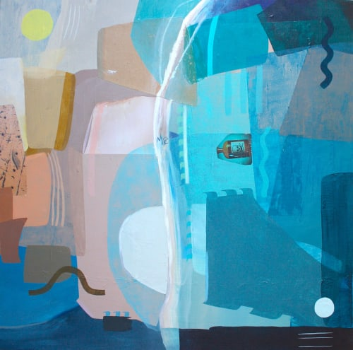 Paintings by Dyanna Dimick (DYD ART) seen at Private Residence, Seattle - Beach Front
