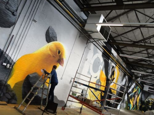 Murals by Vincent Huibers Graffiti Art seen at GDO B.V., Eygelshoven - A shed full of graffiti