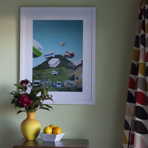 Paintings by Murray Clode (MAC) seen at Private Residence, Tauranga - McFalling