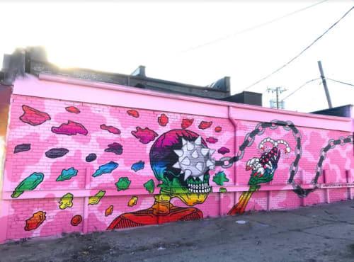 Street Murals by Heidi Barlow seen at Eastern Market, Detroit - Murals In The Market