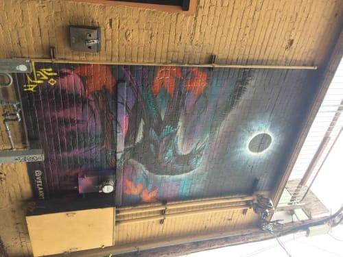Street Murals by VELA ART seen at Crowbar, Corvallis - Eclipse