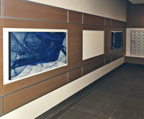 Art & Wall Decor by Rica Belna at Vancouver, Vancouver - Art at Station Square (residential high rise)