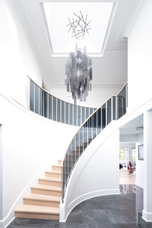 Chandeliers by Propellor Studio seen at Private Residence, Vancouver - Cumulus 24 Chandelier in Grey