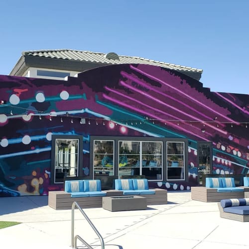 Murals by Jerry Misko seen at Ely at Spring Valley Apartments, Las Vegas - Wall Mural