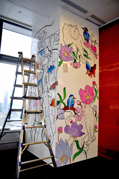 Murals by Laura Ho seen at LinkedIn - HK - Mural (Women)