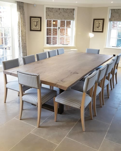 Tables by Handmade in Brighton seen at Private Residence, Berkhamsted - Oak Live-Edge Dining Table