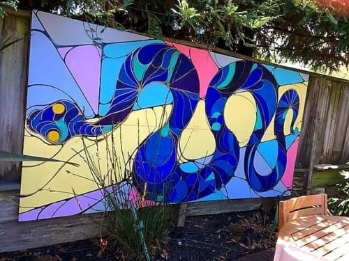Murals by Seibot seen at Private Residence, San Francisco - Karyn