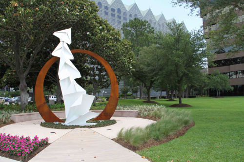 Sculptures by Kevin Box seen at Hilton Houston North, Greenspoint Drive, Houston, TX, USA, Houston - Folding Planes Public Monument