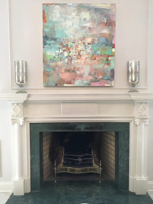Paintings by Galen Cheney seen at Private Residence, New Canaan - Out West