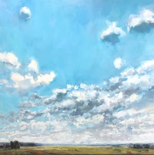 Paintings by Gabriella Collier seen at Creator's Studio, Collingwood - True Sky