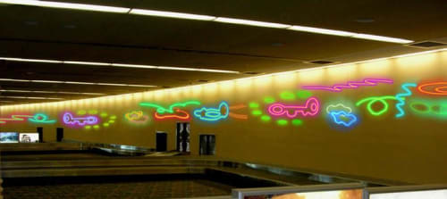 Wall Treatments by Susan Kaprov Studio seen at Jacksonville International Airport, Jacksonville - Things That Fly