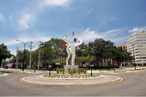 Public Sculptures by Jorge Blanco seen at Sarasota, Sarasota - Bravo!