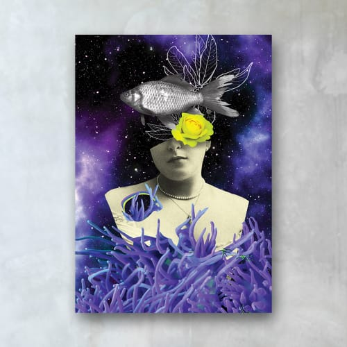 Wall Hangings by MELISE FLORES seen at Private Residence, Miami - Surreal Galaxy Collage