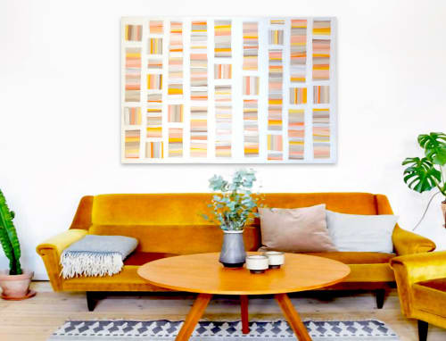 Paintings by Linnea Heide contemporary fine art seen at Asheville, Asheville - 'SUN AND MARiGOLDS' original abstract painting by Linnea Heide