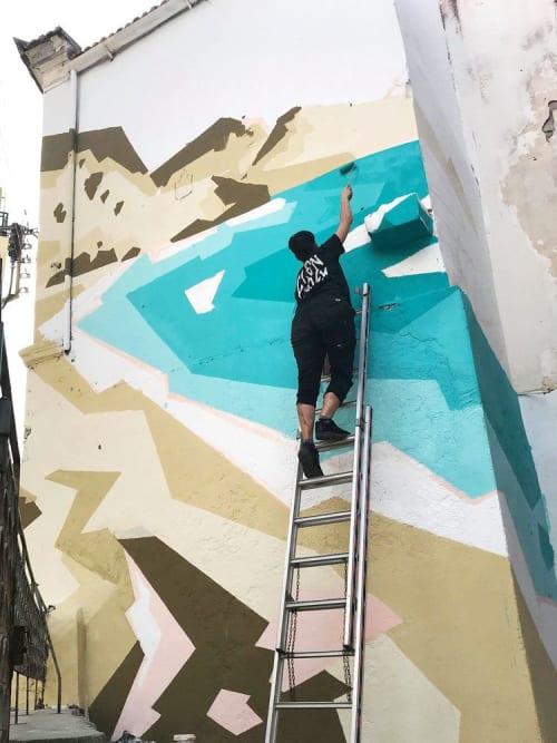 Murals by Helen Proctor seen at Heraklion, Heraklion - Heraklion Project